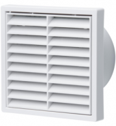 Fixed White Louvre Grill 200mm