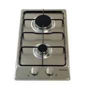 Domain Premium Two Burner Stainless Steel Gas Cooktop with Flame Failure Device – 300mm Model IGC30-FFD