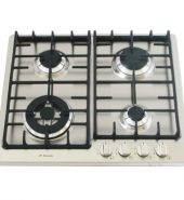 Stainless Steel Gas Cooktop + FFD & Cast Iron Trivets – 580mm Model IGC60-WOK-A