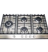 Stainless Steel Gas Cooktop + FFD & Side Wok Burner – 860mm Model IGC-SW90-A