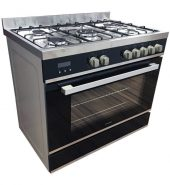 9 Function Black Glass Freestanding Cooker – 900mm Model FBC90