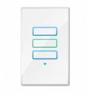 WHITE WIFI LIGHT SWITCH THREE-GANG